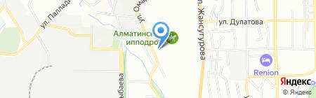 Тайбурыл на карте Алматы