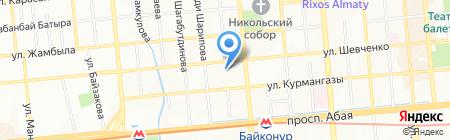 Объединенная университетская клиника Казахского национального медицинского университета им. С.Д. Асфендиярова на карте Алматы