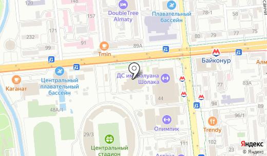 Easy Mail. Схема проезда в Алматы