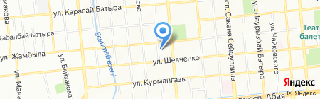 Бархан на карте Алматы