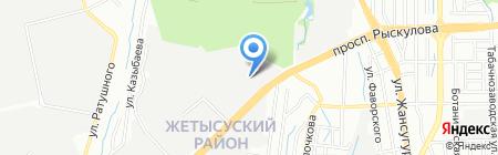 Сервис ПЕЖО на карте Алматы