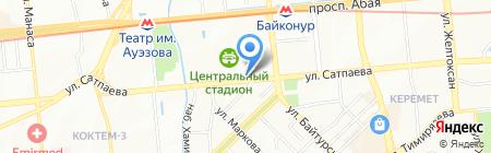 Шиномонтажная мастерская на ул. Сатпаева на карте Алматы