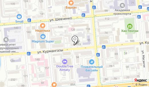 КАЗЭКСПОАУДИТ. Схема проезда в Алматы