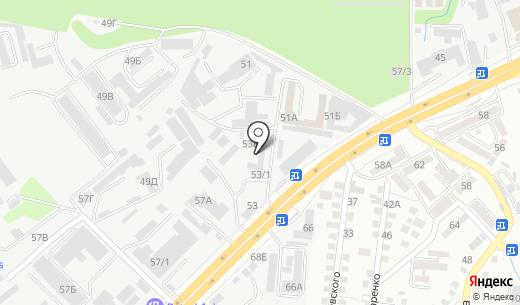 AUTO ФОРМАТ. Схема проезда в Алматы