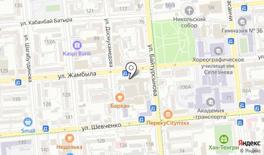Алматыстрой. Схема проезда в Алматы