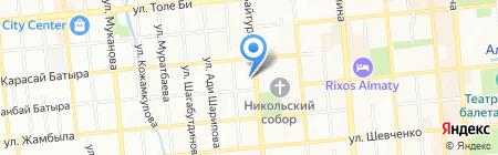 Санат на карте Алматы