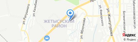 Технический узел сети магистральной связи и телевидения №1 на карте Алматы