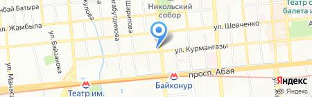 KZ стиль на карте Алматы