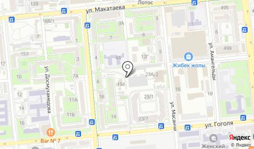 Сармат-Принт. Схема проезда в Алматы
