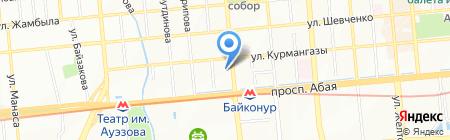 Спортивный клуб академии спорта и туризма на карте Алматы