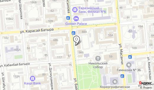 Яркое детство. Схема проезда в Алматы