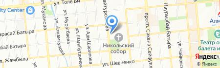 Диа-Голд на карте Алматы