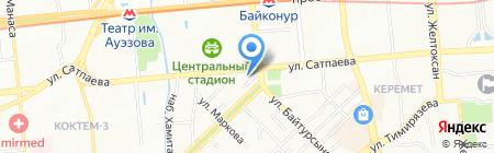 Shagan на карте Алматы
