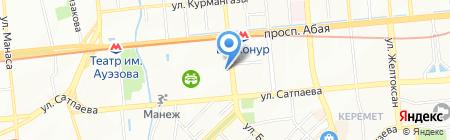 Шиномонтажная мастерская на ул. Байтурсынова на карте Алматы