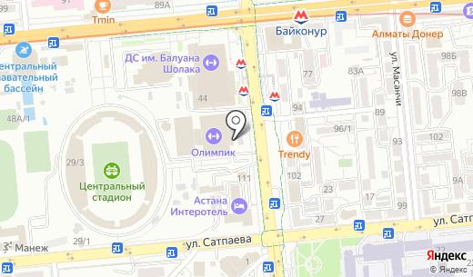 Шиномонтажная мастерская на ул. Байтурсынова. Схема проезда в Алматы