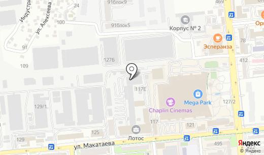 Принт. Схема проезда в Алматы