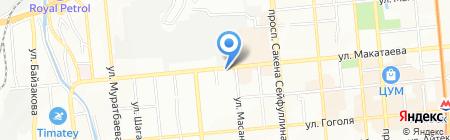 Казбытгаз на карте Алматы