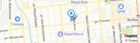 Евразия жилой комплекс на карте Алматы