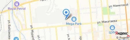 Пеликан на карте Алматы