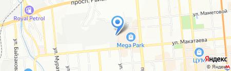 START на карте Алматы