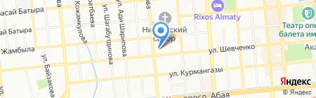Дос на карте Алматы