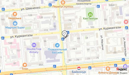 Клиника байланыс ТОО. Схема проезда в Алматы