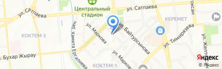 ADK index на карте Алматы