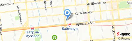 Шайба-Exchange на карте Алматы
