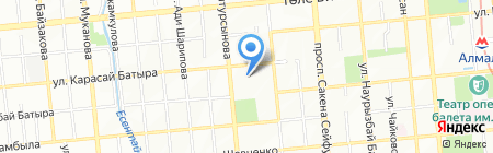 Фарида на карте Алматы