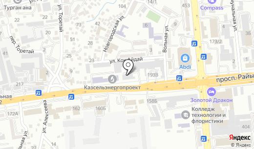 Строй-К. Схема проезда в Алматы
