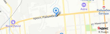 Отдел миграционной полиции УВД Жетысуского района г. Алматы на карте Алматы