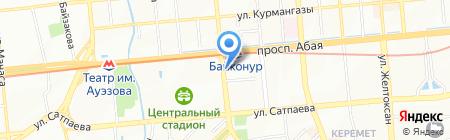 Станция Байконур на карте Алматы