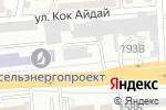 Схема проезда до компании Woodmaker в Алматы