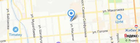 Акниет продовольственный магазин ИП Мырзалина Б.У на карте Алматы