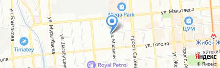Алмаазия на карте Алматы