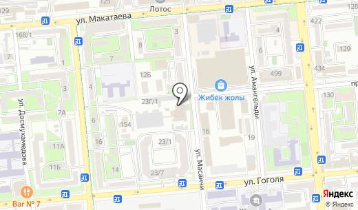 Colt. Схема проезда в Алматы