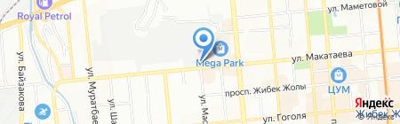 Томский лес на карте Алматы