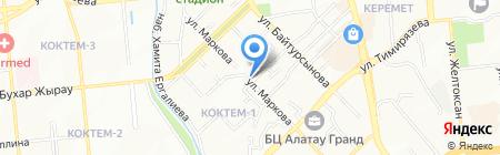 На Маркова на карте Алматы