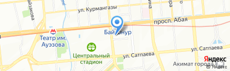 Ауназ на карте Алматы