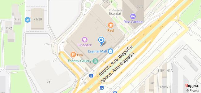 ТЦ Esentai Mall, пр, Аль-Фараби 77/8