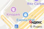 Схема проезда до компании Esentai Gourmet в Алматы