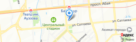 Тетрадь на карте Алматы