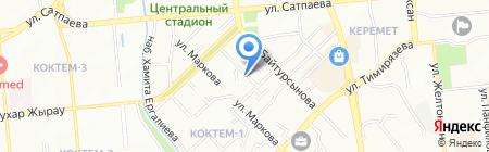 Балашка на карте Алматы