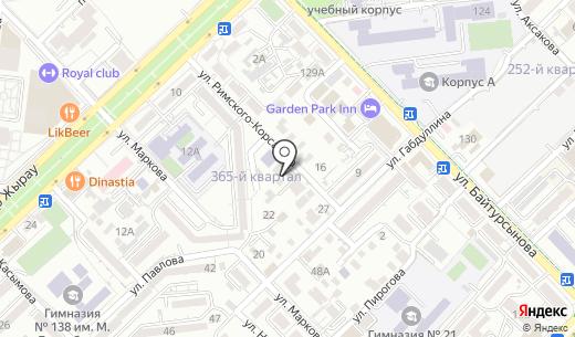 Балашка. Схема проезда в Алматы