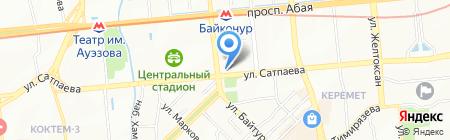 Татти на карте Алматы