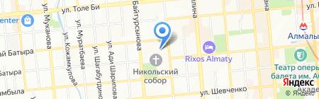 Телефон доверия на карте Алматы