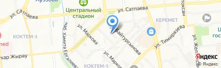 Телепатия на карте Алматы