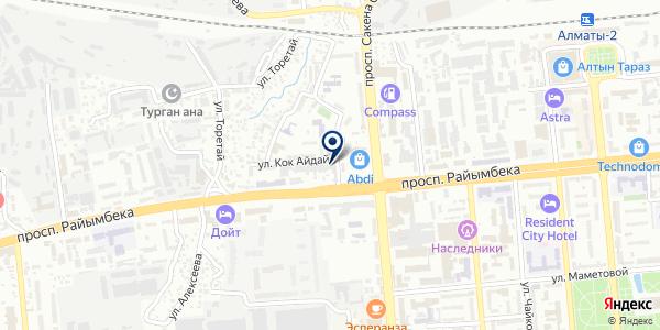 МИД на карте Алматы