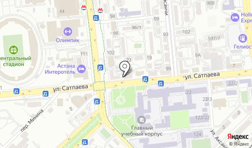 Точка ТОО. Схема проезда в Алматы