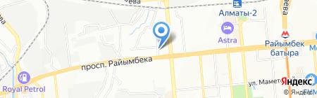 Абыз на карте Алматы